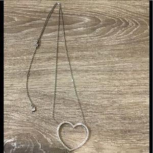 NWT Swarovski heart necklace